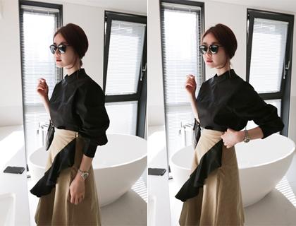 China button blouse (50% sale)