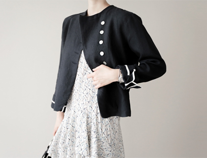 Shell-button linen jacket (50% sale)