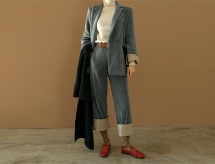 Corduroy combi jacket