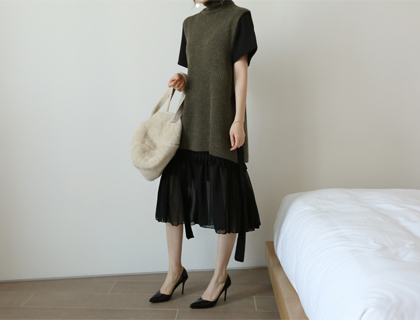 Frill chiffon skirt