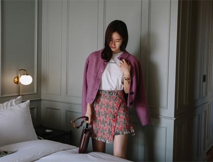 Sweet tweed skirt