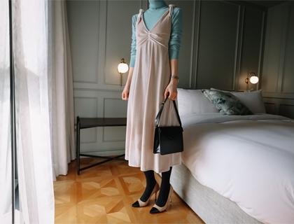 Chai velvet dress