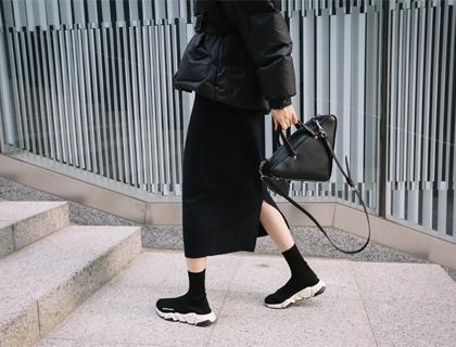 High long skirt
