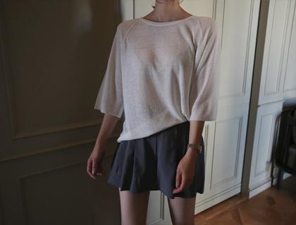 Rough linen knit