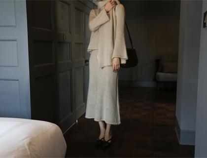 Mohair knit skirt