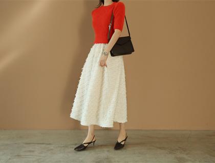 Dona fringe skirt