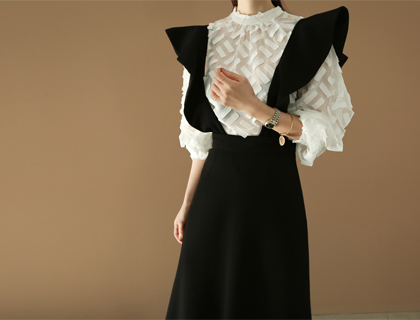 Comb sheer blouse