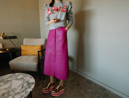 Gorgeous button skirt