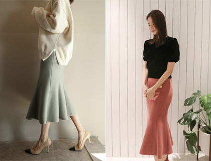 Tulip wool skirt