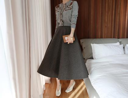 Multicheck hul skirt