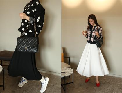 Kai long-hul skirt
