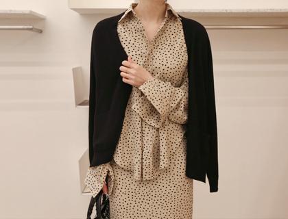 Dot silk blouse
