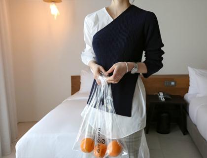 Combi shirt knit