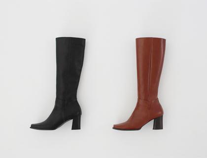 Square toe long boots ♩