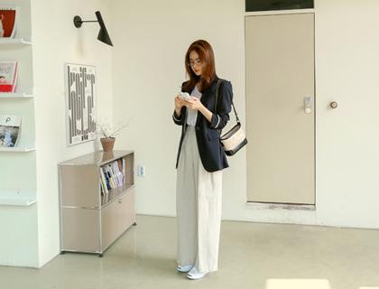 Post linen pants