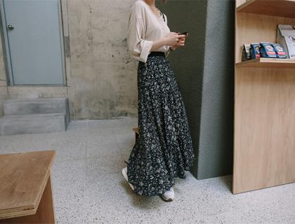 Floret long skirt