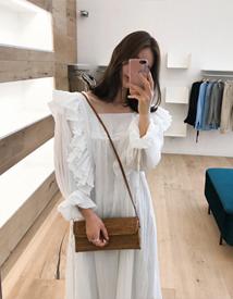 Elena frill dress