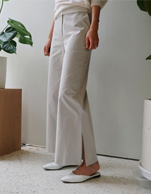 Modernism slit pants