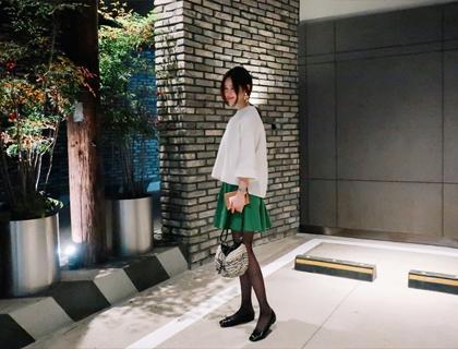 Unbal shirring skirt