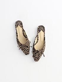 Leopard suede mule ♩
