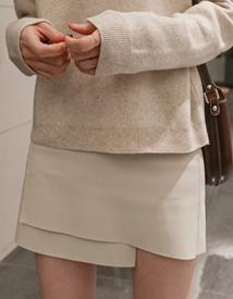 Unbal leather mini skirt