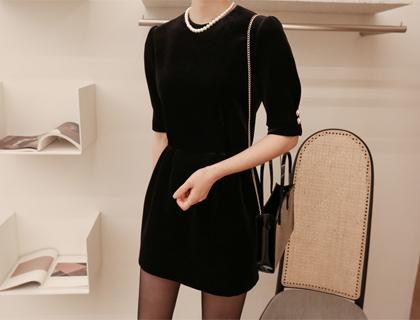 Mini velvet dress