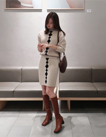 Dia knit two-piece