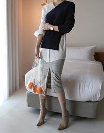 Trendy check skirt