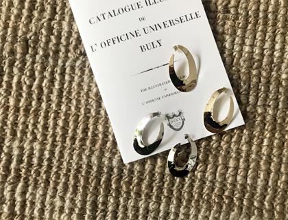 Metal oval earring