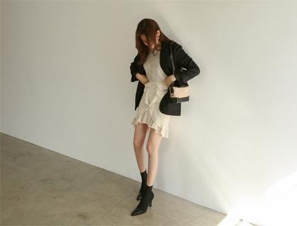 Dried frill skirt