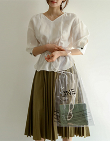 String linen blouse