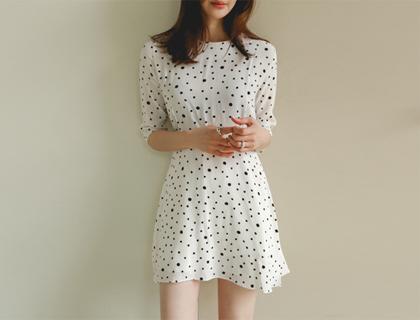 Raindrop dot dress