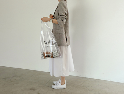 Braun check linen jacket