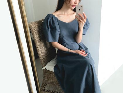 Corin puff dress