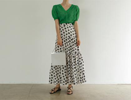 On flower skirt