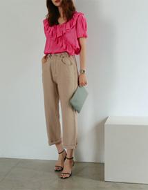 Sullivan frill blouse