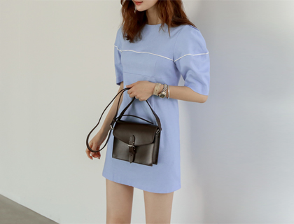 Piping line dress