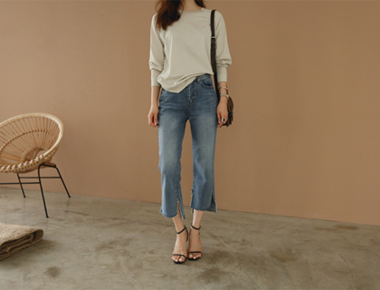Vintage slit denim
