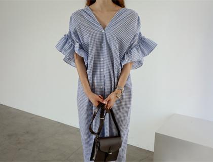 Maxi check dress