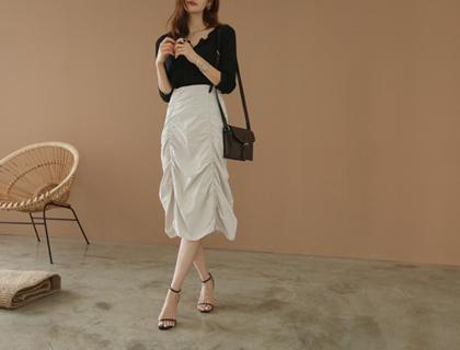 Two shirring skirt