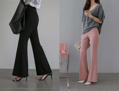 Piko boots-cut slacks