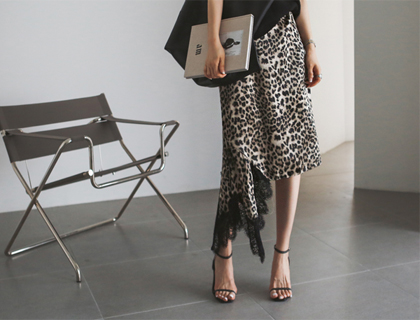 Leopard lace skirt