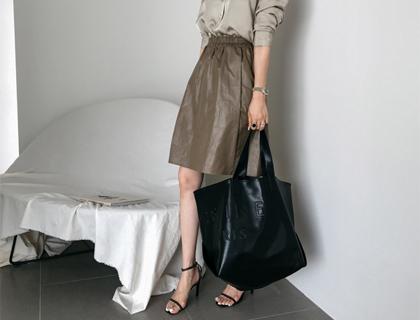 Shimmer band skirt
