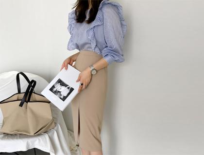Runway frill blouse
