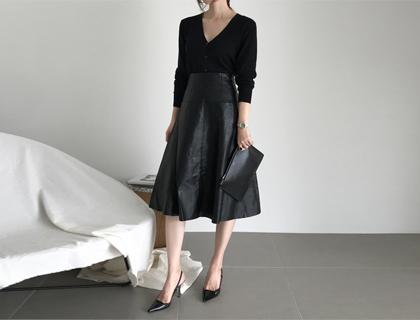 Jane leather skirt