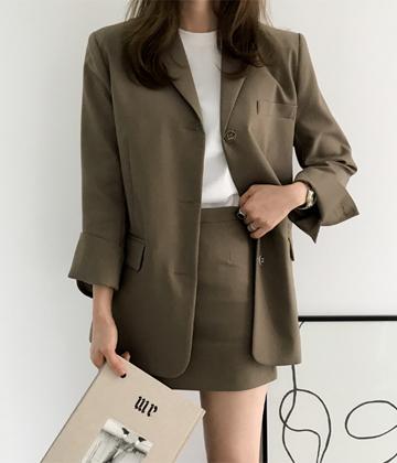 Three button jacket
