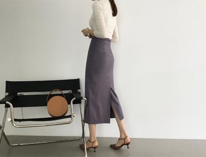 Maxi slim skirt