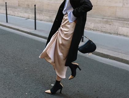 String shirring skirt