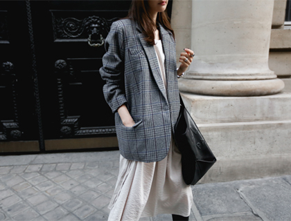 Company check jacket
