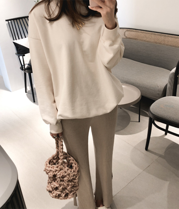 Slit-golji knit pants
